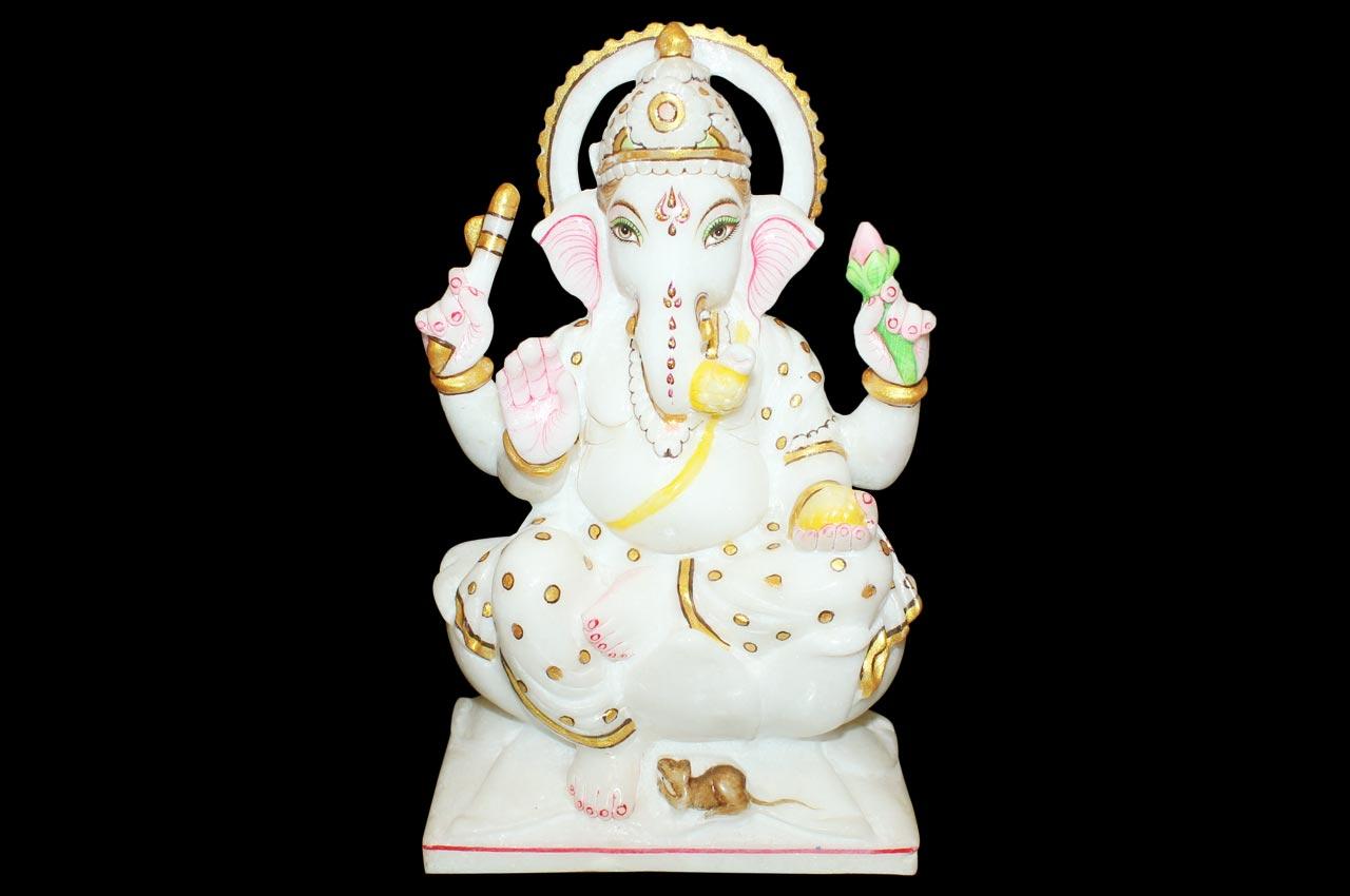 Ganesh in bonded marble