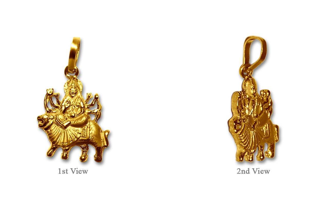Durga pendant in pure gold design i rudraksha ratna durga pendant in pure gold design i mozeypictures Image collections