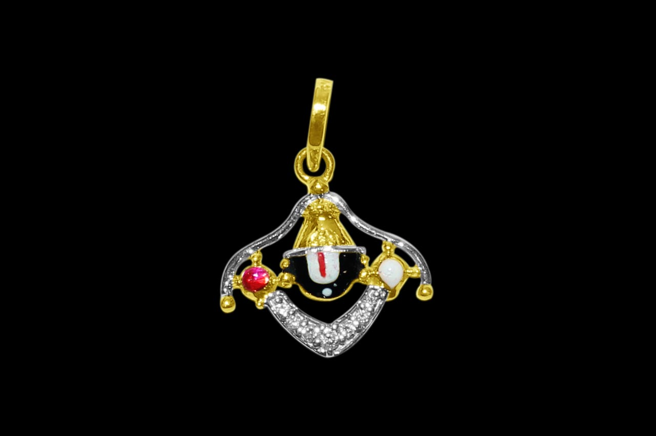 Tirupati Balaji Locket in Pure Gold - Design VII