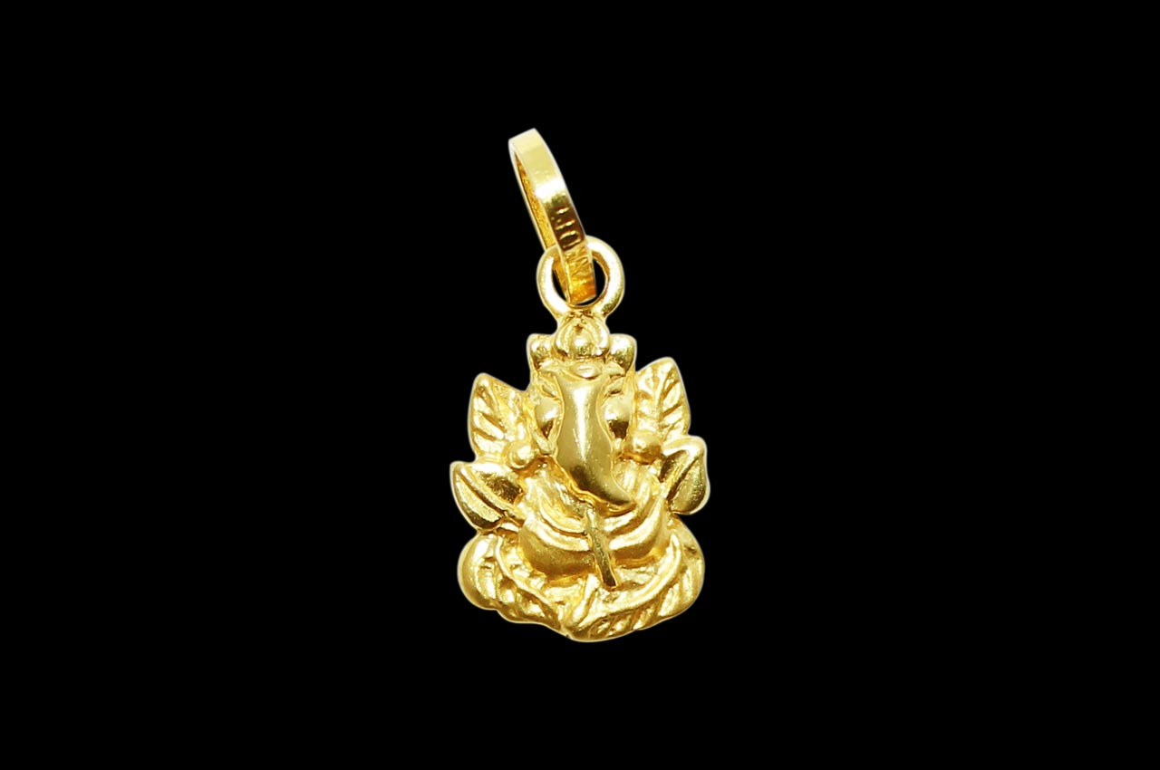 Ganesh Pendant in Gold - Design II