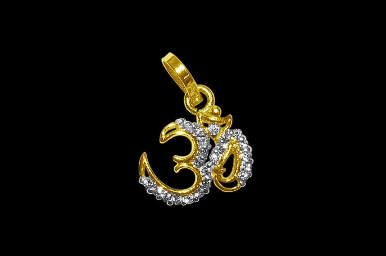Om Locket in Pure Gold - Design II