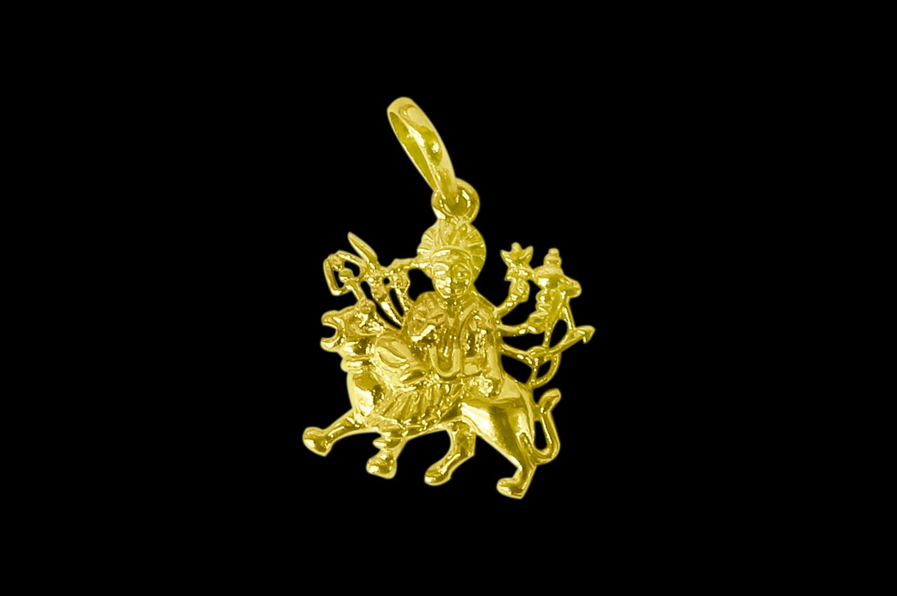 Durga Locket in Pure Gold