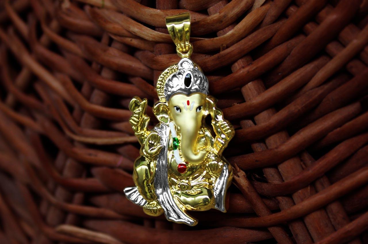 Ganesh pendant in gold design civ rudraksha ratna ganesh pendant in gold design civ aloadofball Image collections