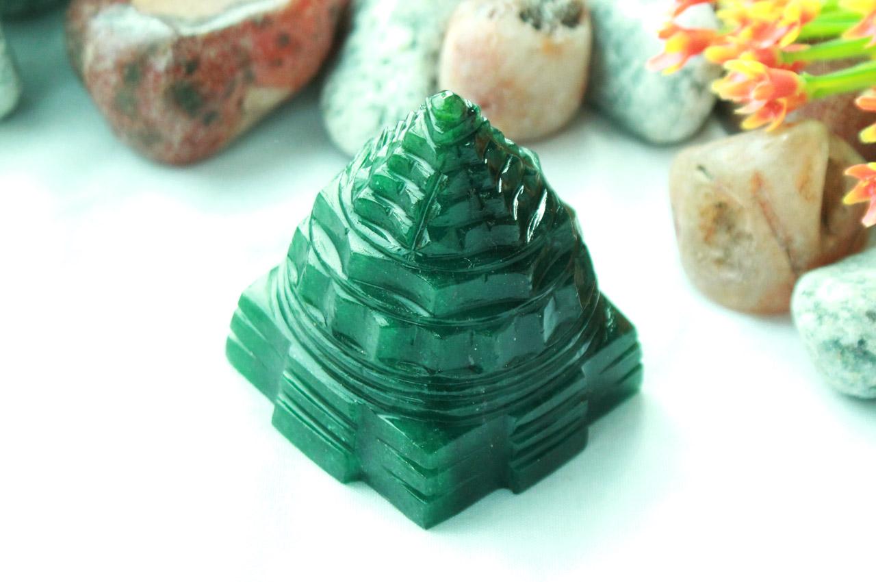 Green Jade Shree Yantra - 89 gms