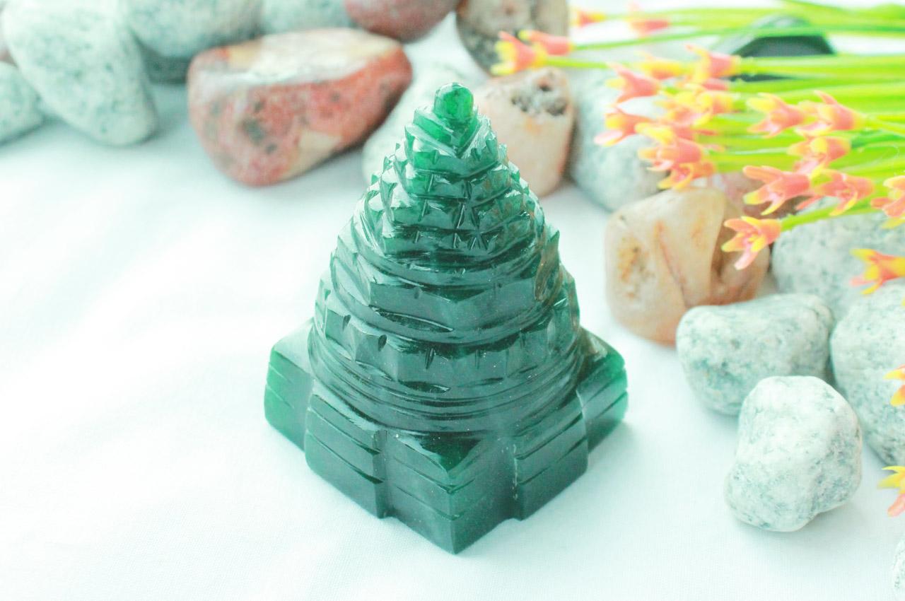 Green Jade Shree Yantra - 119 gms