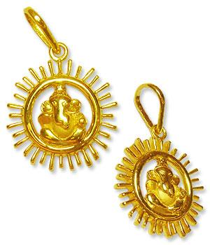 Ganesh Locket - in Pure Gold - Design V