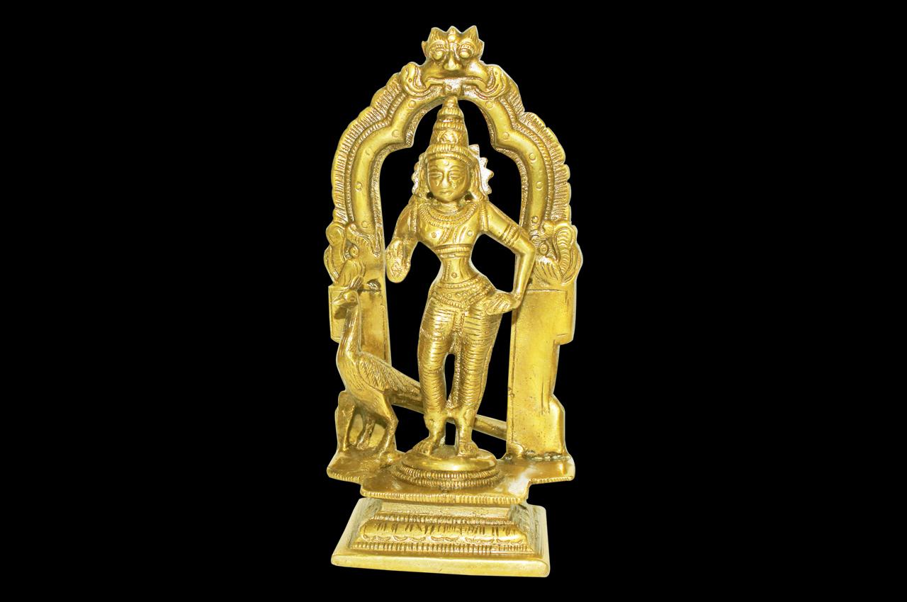 Lord Kartikeya idol in brass