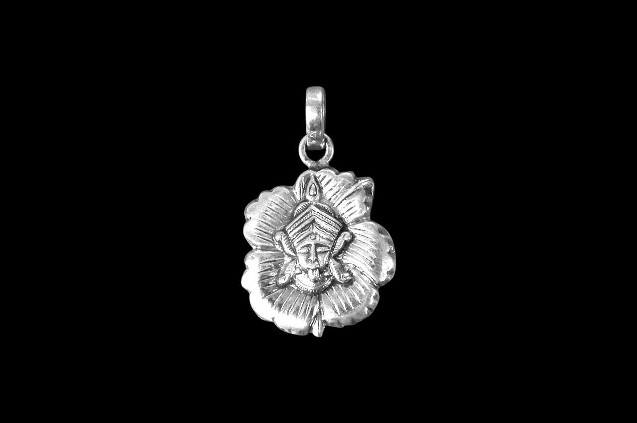 Mahakali Locket - in Pure Silver - Design I
