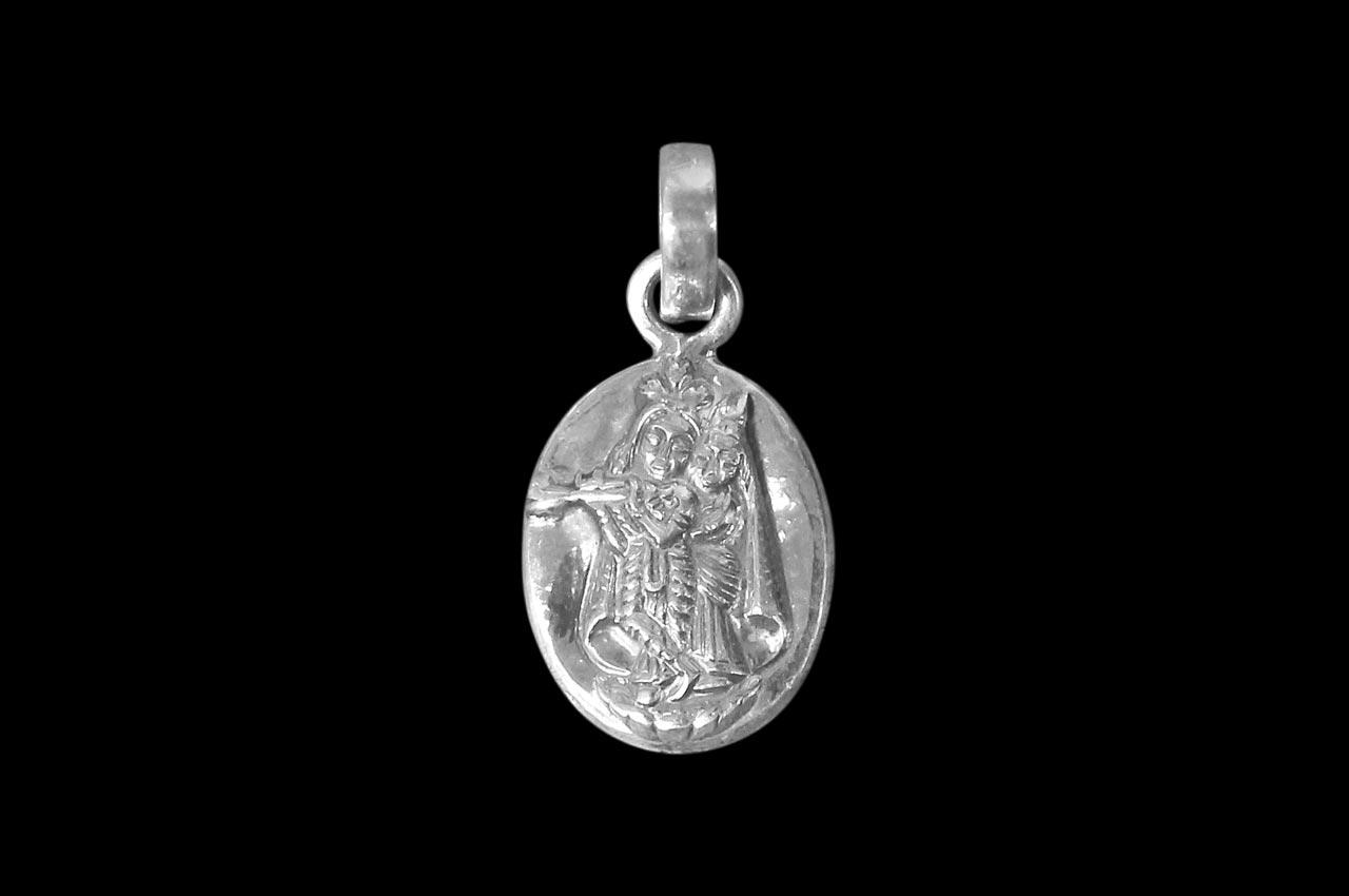 Radha Krishna Locket - in Pure Silver - Design III