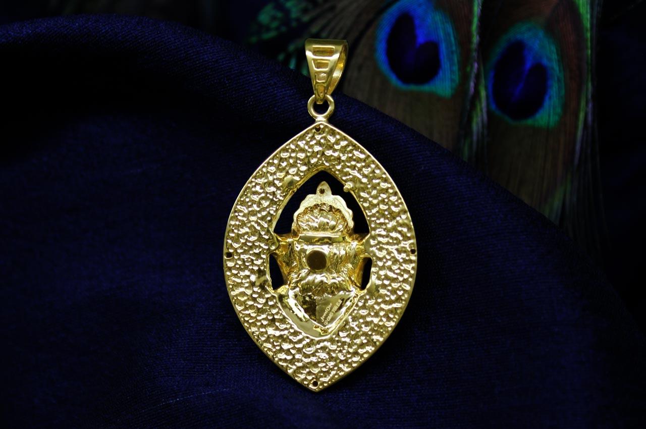 ganesh pendant in gold design cix rudraksha ratna