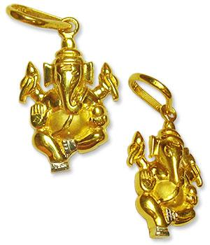 Ganesh Locket - in Pure Gold - Design IV