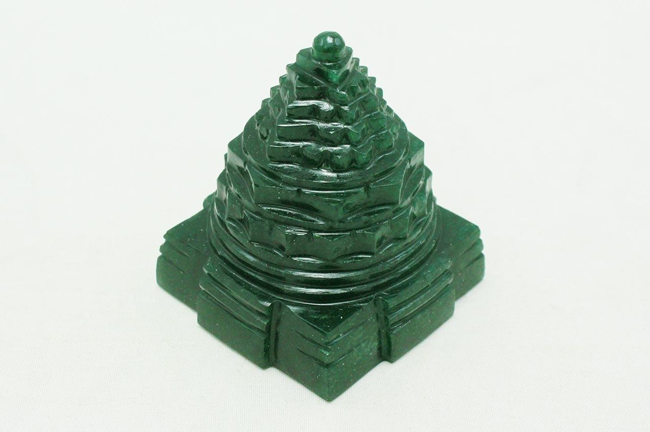 Green Jade Shree Yantra - 153 gms