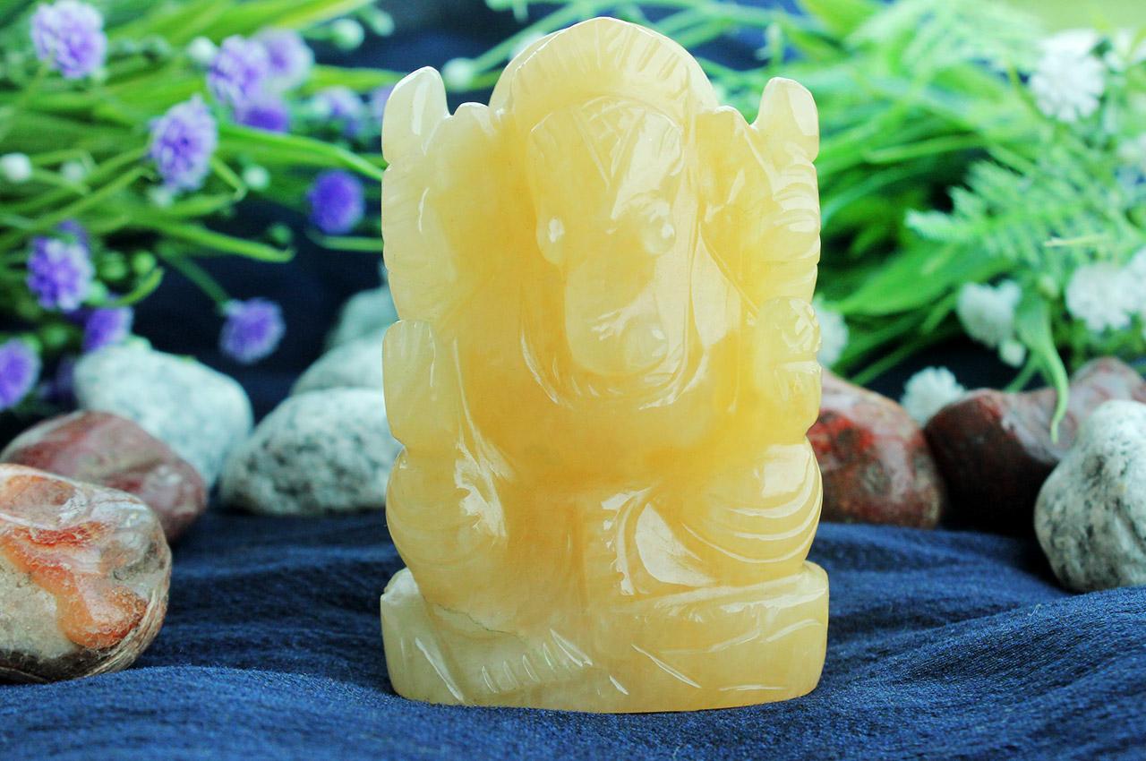 Yellow Jade Ganesha - 132 gms