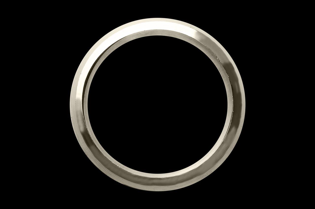 Heavy Stainless Steel Kada - Rudraksha Ratna