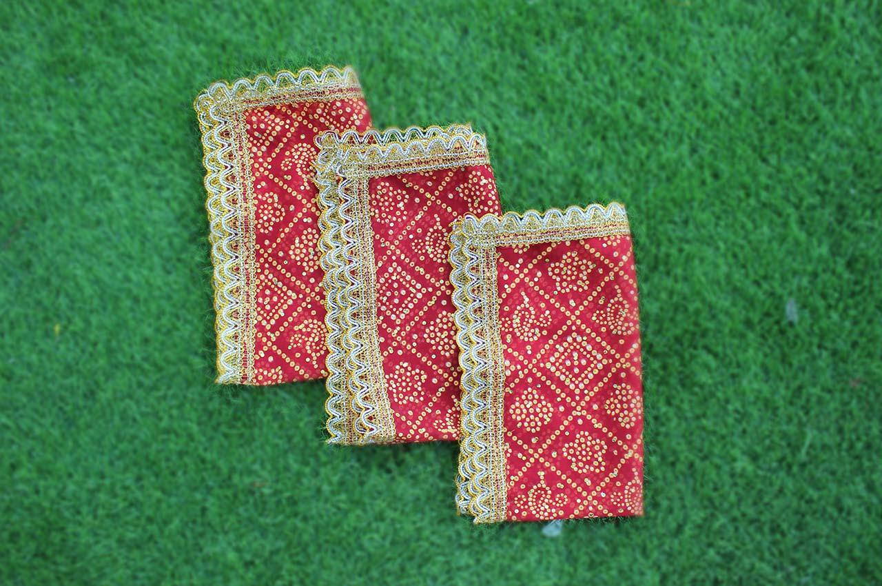 The Auspicious Red altar cloth - Set of 3