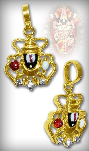 Tirupati Balaji Locket in Pure Gold - Design IV