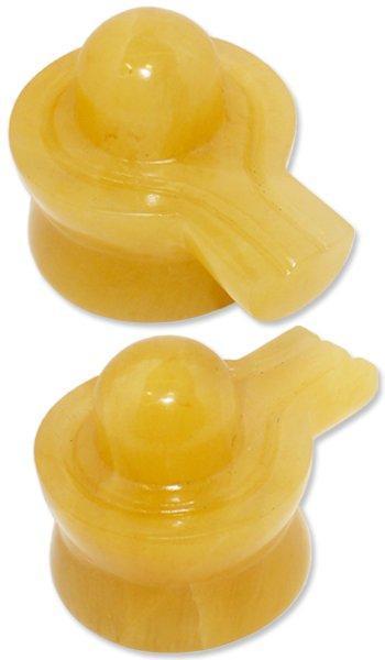 Yellow Jade Shivling - 260 gm