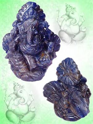 Ganesha in Blue Sapphire - 1410 carats