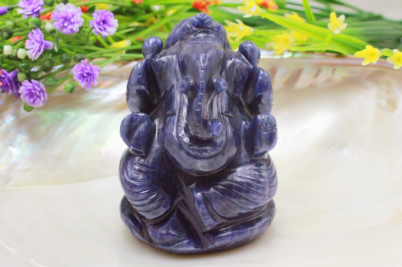 Blue Jade Ganesha - 160 gms