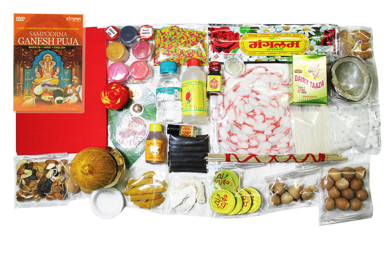 Ganesh Puja Kit, Ganesh Pooja Items List and Ganesh Puja