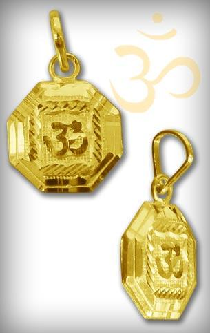 Om Locket in Pure Gold - Design III