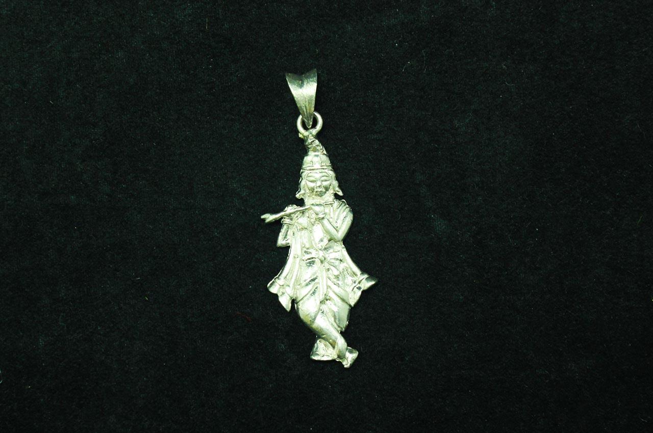 Krishna Locket in SIlver - Design I