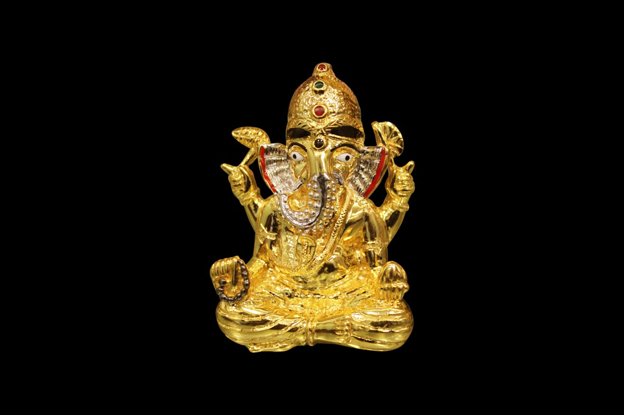 Shree Siddhivinayak Ganesh locket in 22ct pure gold
