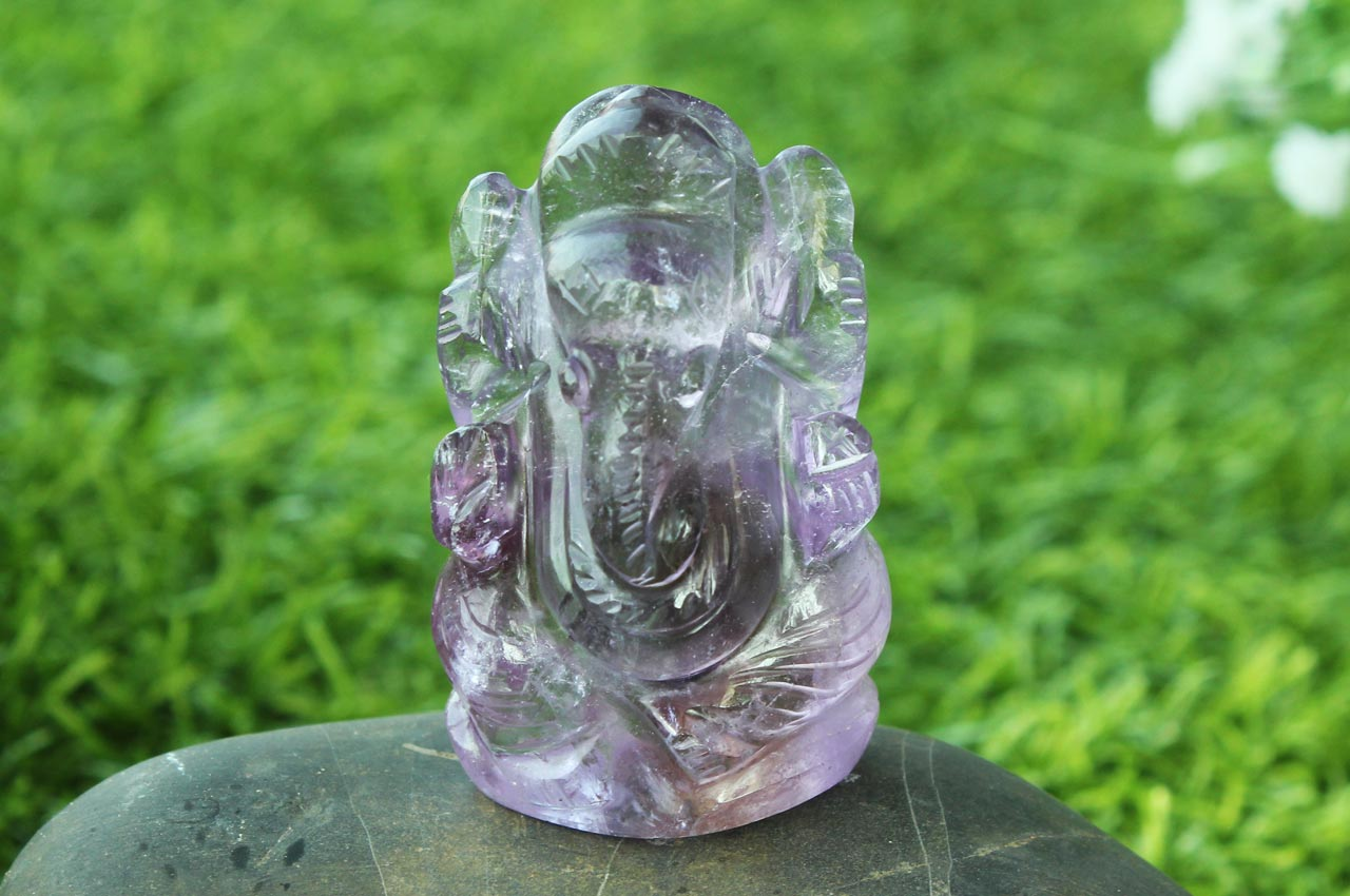 Ganesha in Amethyst - 54 gms