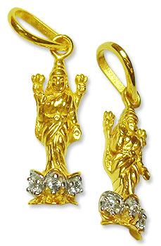 Lakshmi Locket - in Pure Gold