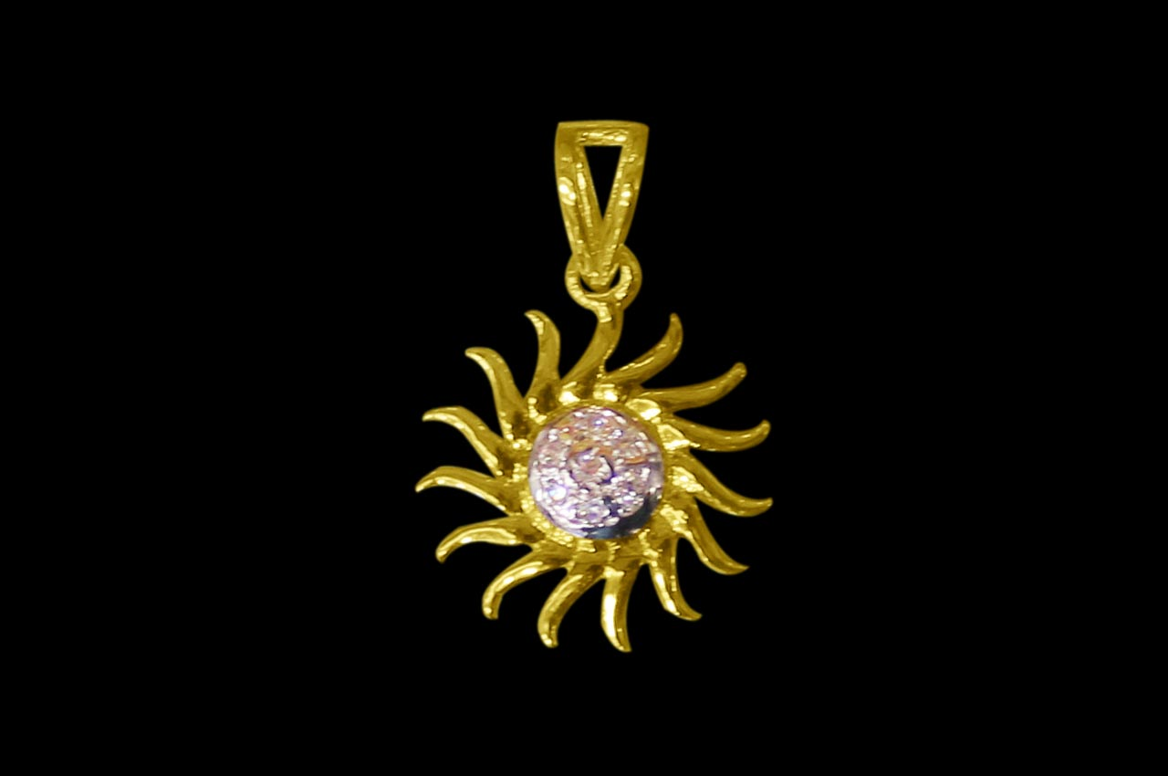 Surya Locket - in Pure Gold - 3.08 gms
