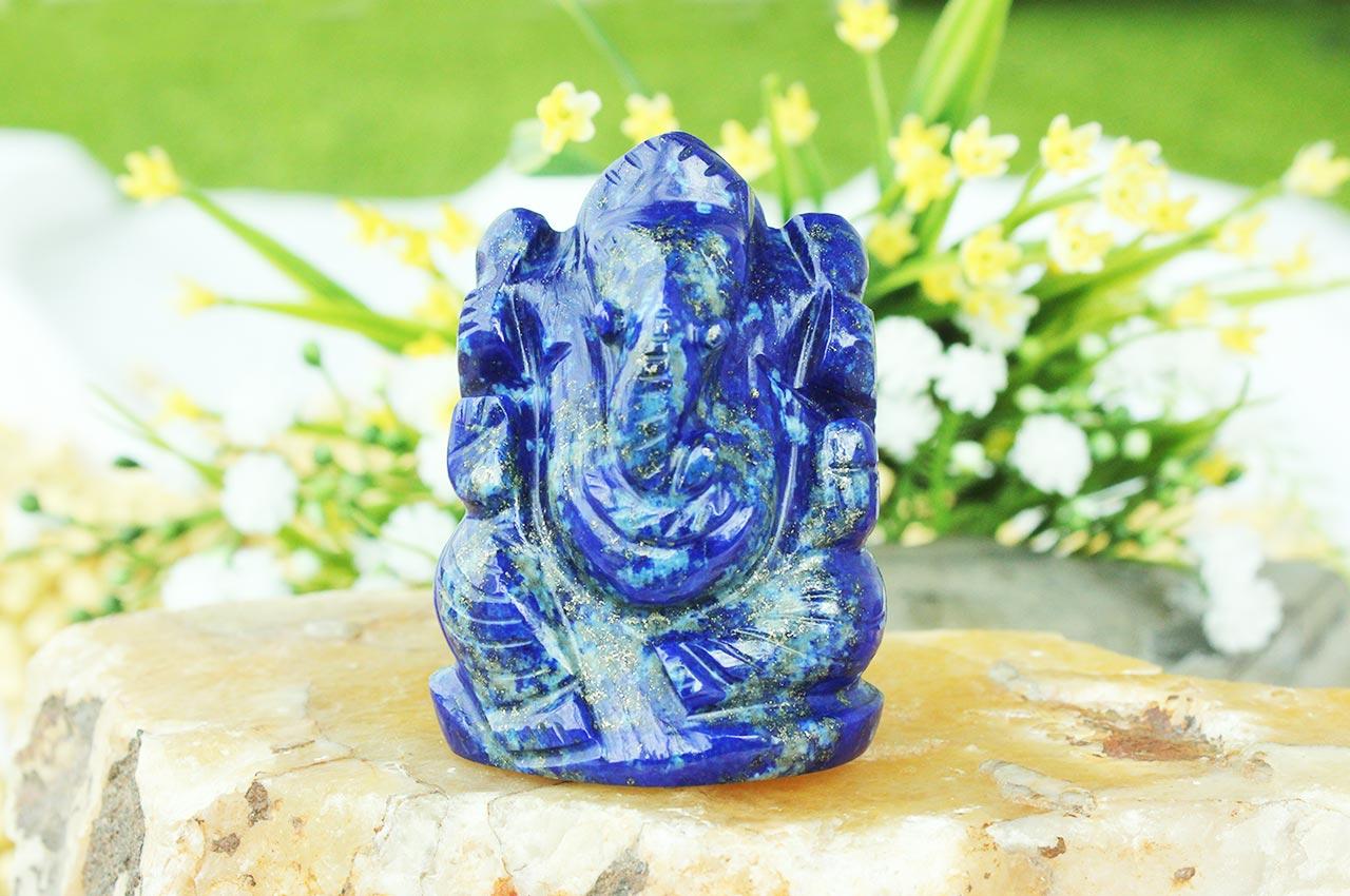 Lapis Lazuli Ganesha - 78 gms