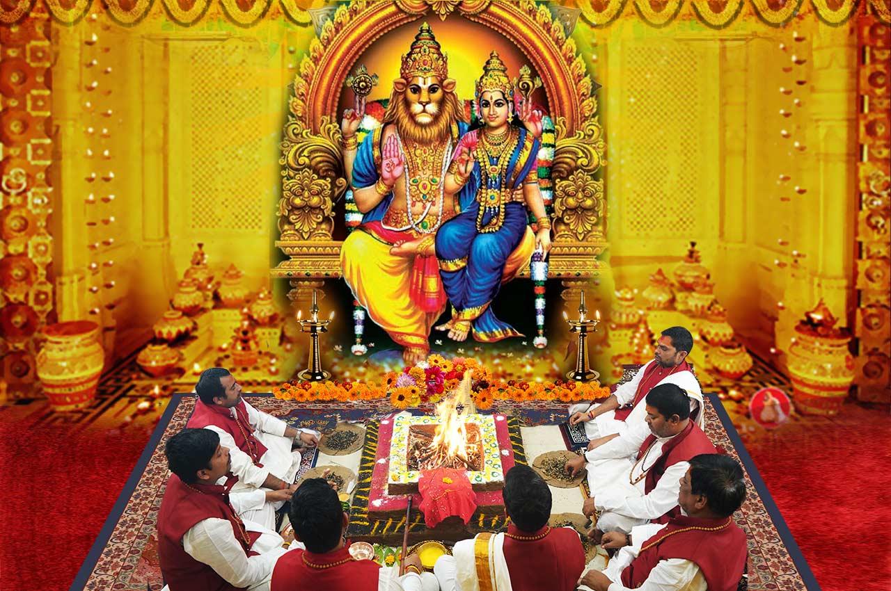 Laxmi Narasimha Puja and Yajna