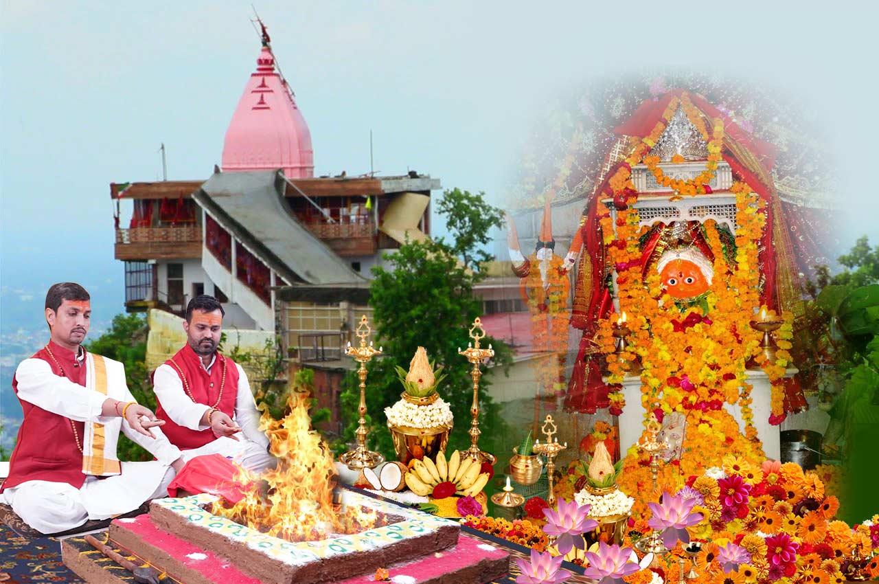 Puja at Chandi Devi Haridwar