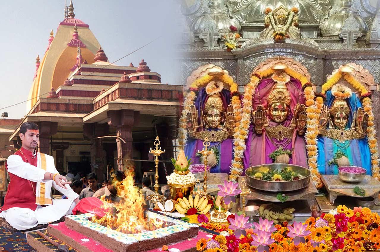 Puja at Mahalaxmi Temple Mumbai