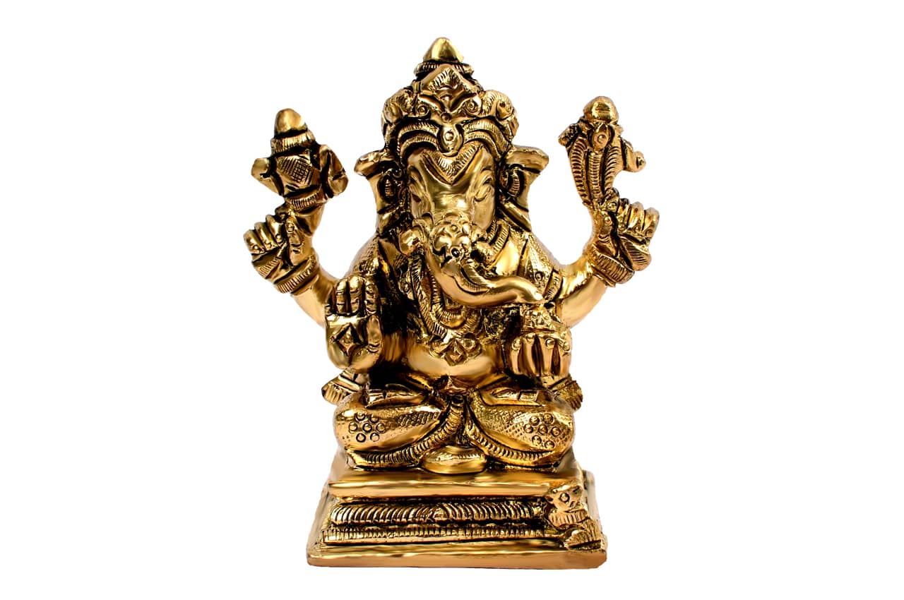 Ganesha Idol in Brass - IV