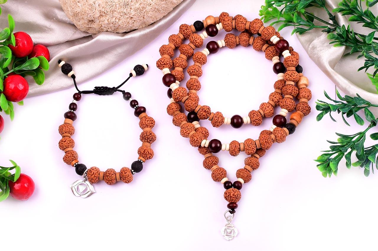 8 mukhi Ganesh mala and bracelet set