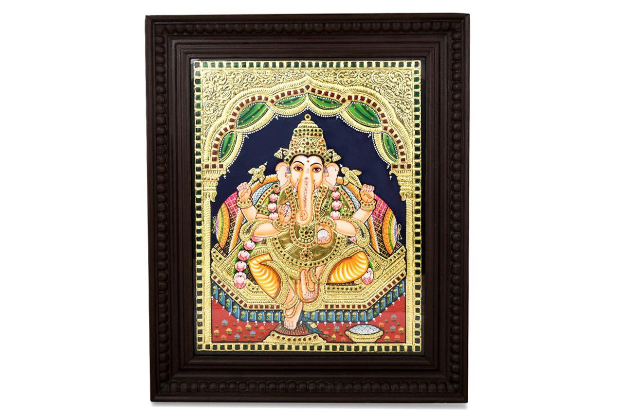 Lord Ganapati Tanjore Painting