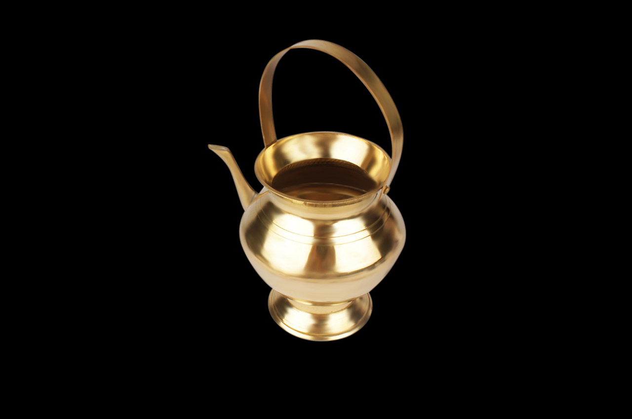 Abhishek pot in brass
