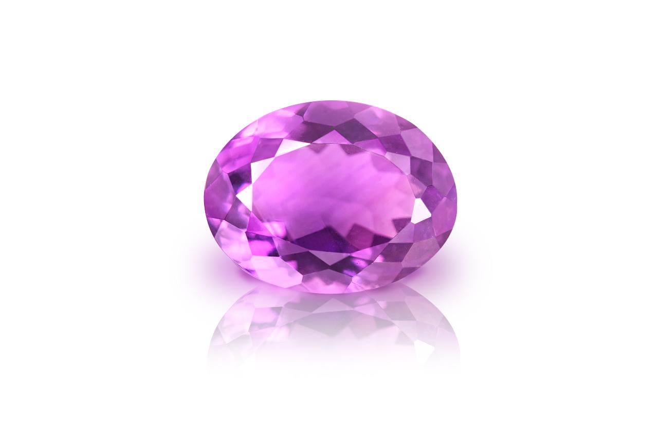 Amethyst - 8.50 carats - oval