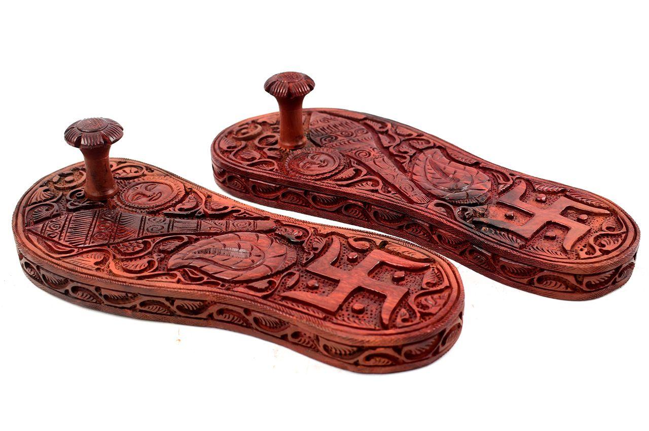 Divine Red Sandalwood Paduka
