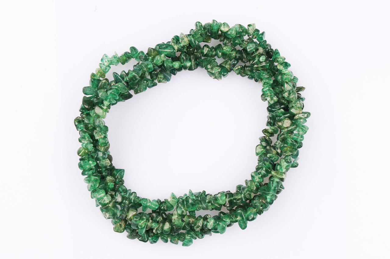 Aventurine uncut beads necklace