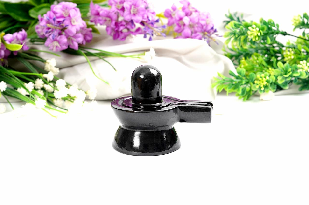 Black Agate Shivling - 244 gms