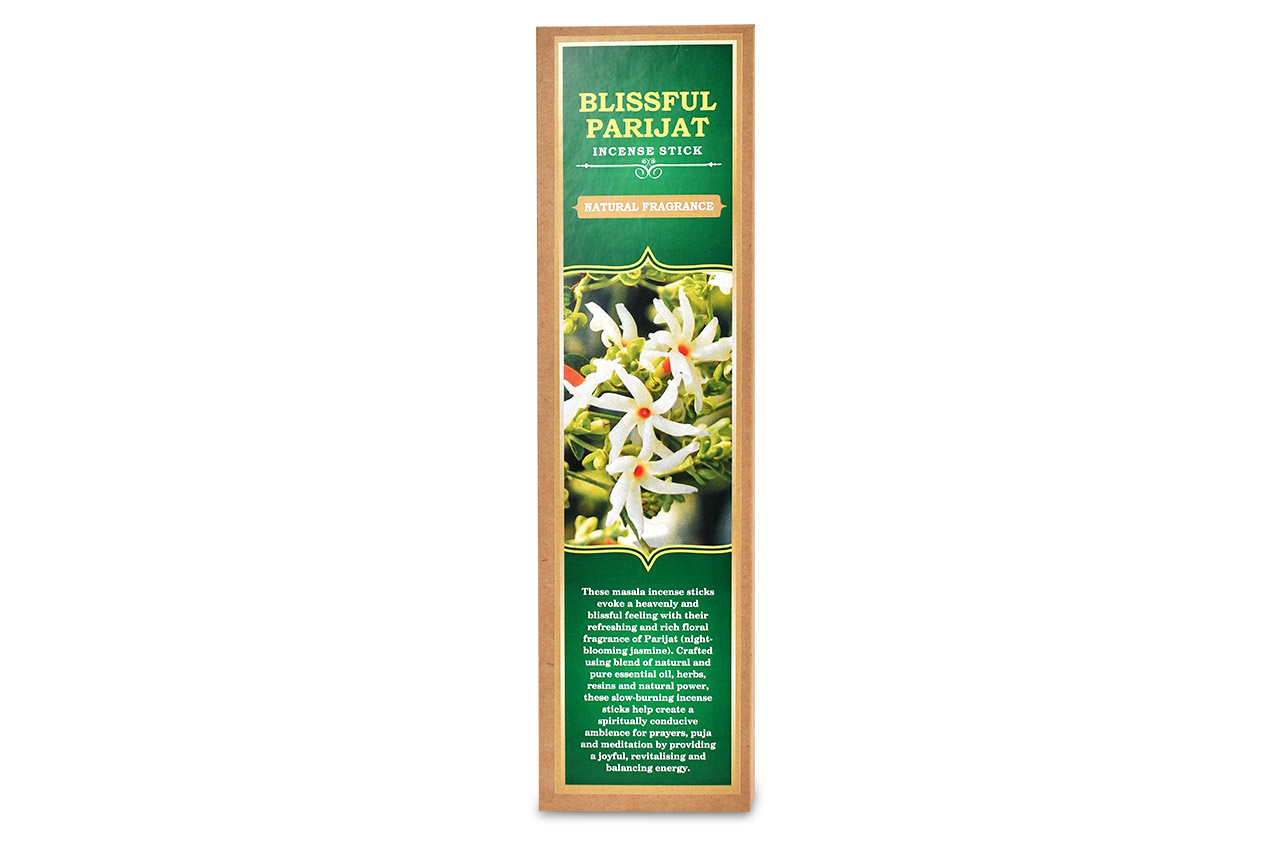 Blissful Parijat Incense Stick Natural Fragrance Rudraksha Ratna
