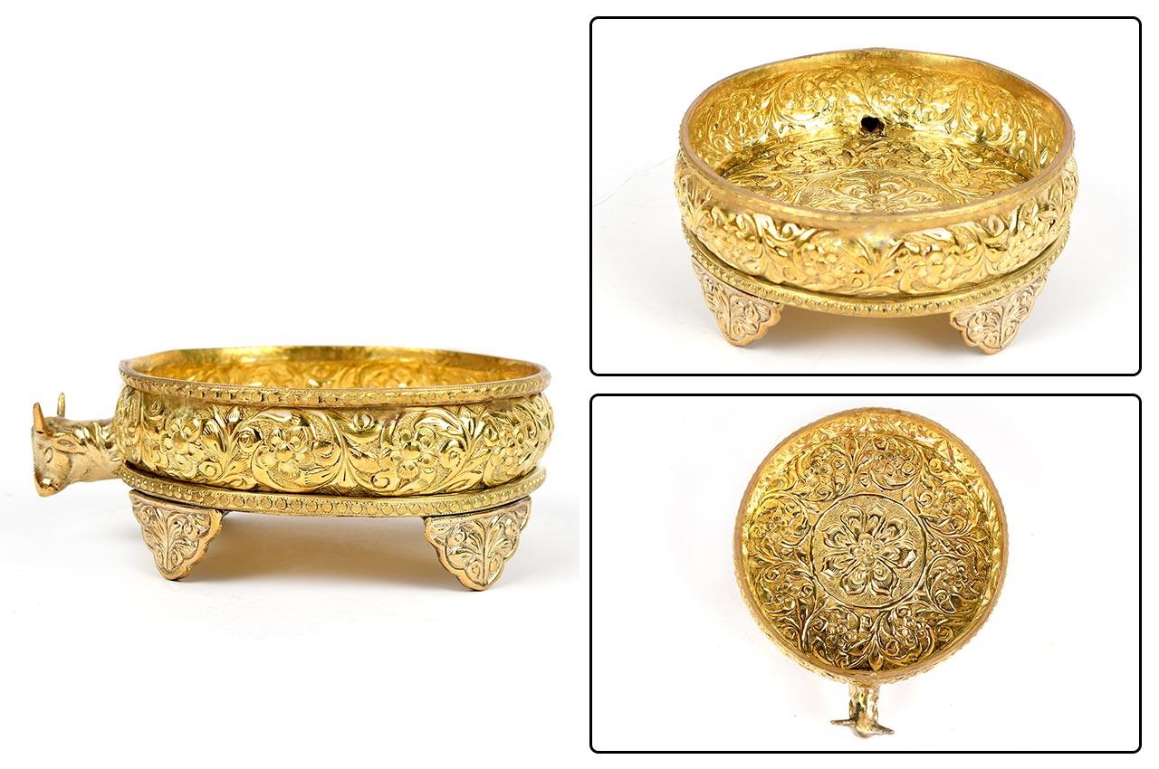 Brass Abhishek Gaumukh Pot