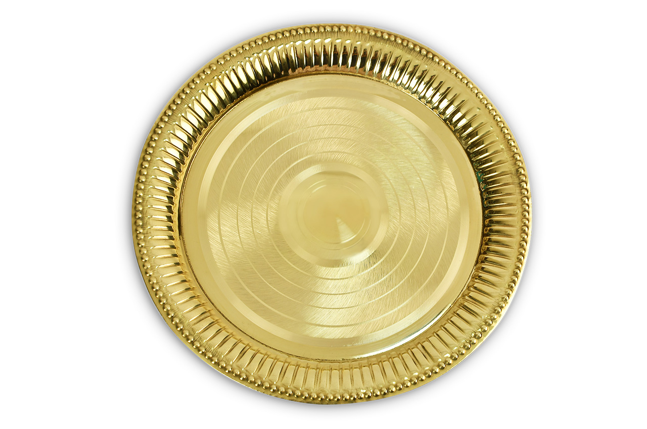 Brass Puja Plate - II
