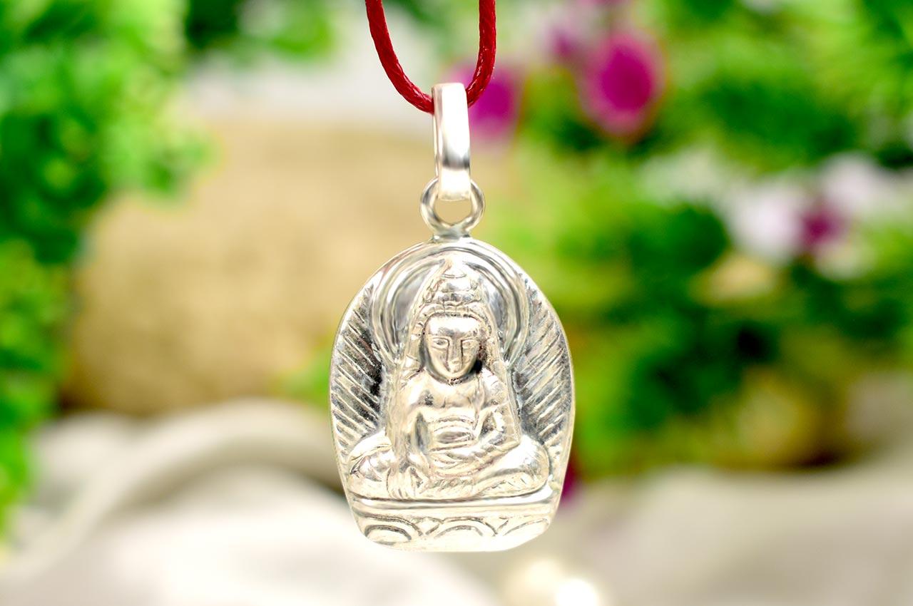 Buddha Locket - in Pure Silver - Design V