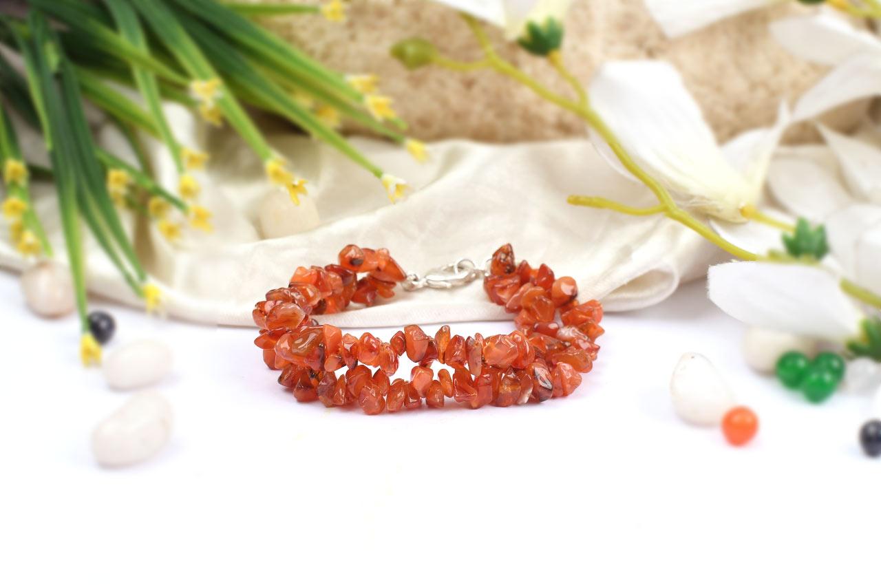 Carnelian Double Turn Bracelet
