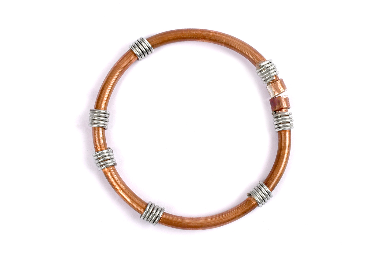 Copper Iron Anklet for Stability - Design - I