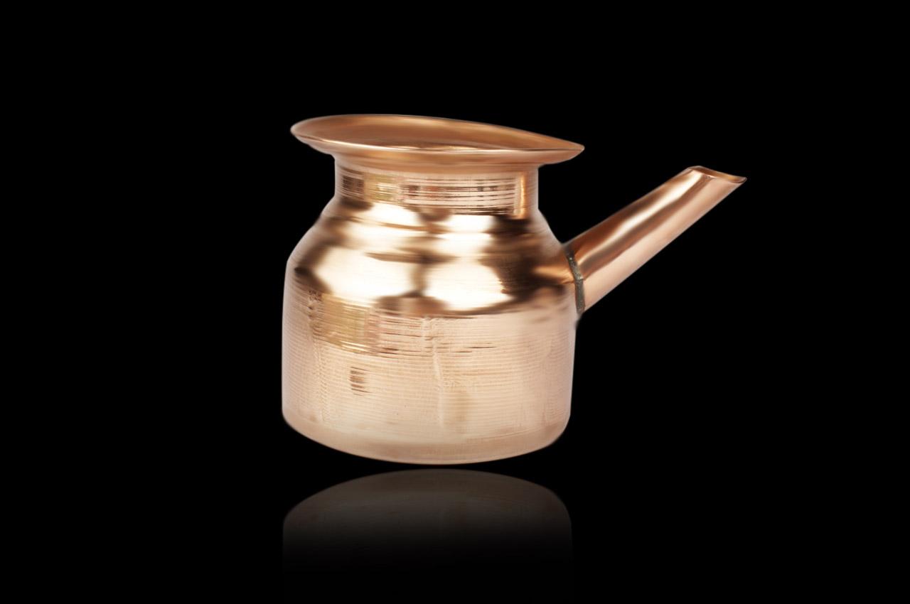 Copper pot with spout