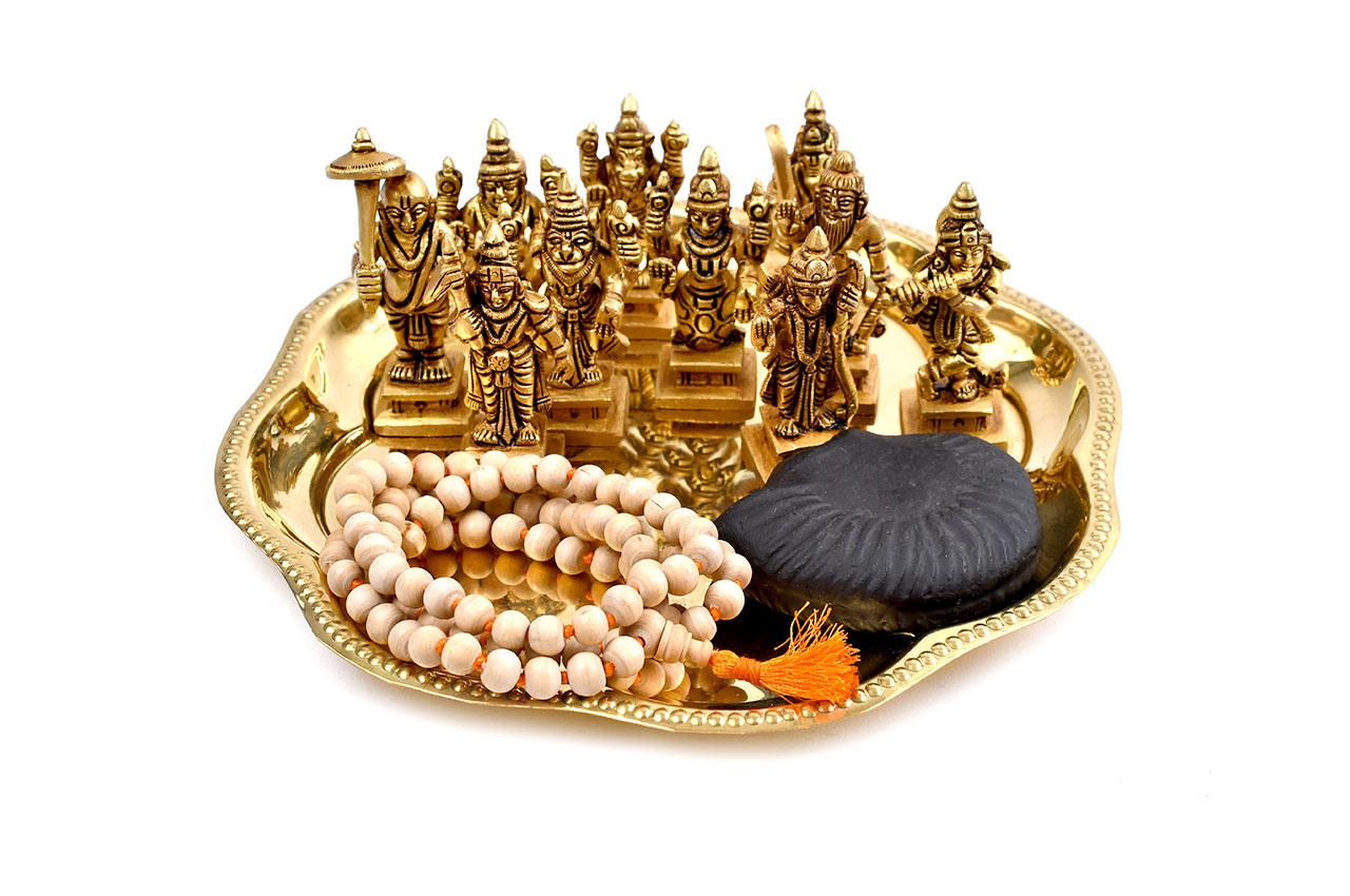 Dasavtar idol with Shaligram